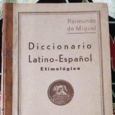 Diccionarios de segunda mano: DICCIONARIO LATÍN - ESPAÑOL (ETIMOLÓGICO) - AÑO 1946. Lote 257691870