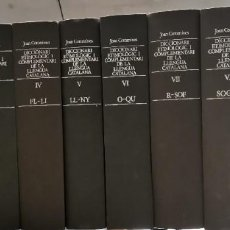Diccionarios de segunda mano: DICCIONARI ETIMOLÓGIC I COMPLEMENTARI DE LA LLENGUA CATALANA JOAN COROMINES 10 VOLUMS CATALÁN LENGUA. Lote 257861040
