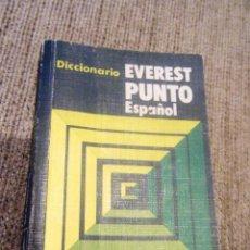 Diccionarios de segunda mano: DICCIONARIO EVEREST PUNTO ESPAÑOL. Lote 260429300