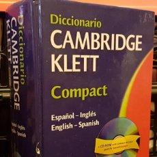 Diccionarios de segunda mano: DICCIONARIO CAMBRIDGE KLETT COMPACT. Lote 261325935