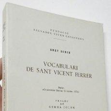 Libri di seconda mano: VOCABULARI DE SANT VICENT FERRER - GRET SCHIB. Lote 262433905