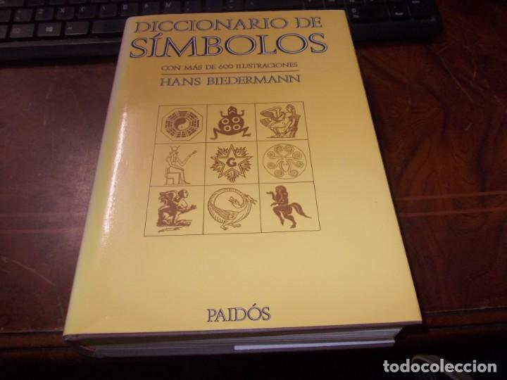 DICCIONARIO DE SÍMBOLOS CON MAS DE 600 ILUSTRACIONES, HANS BIEDERMANN. PAIDÓS 2.000 (Libros de Segunda Mano - Diccionarios)