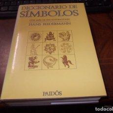 Libri di seconda mano: DICCIONARIO DE SÍMBOLOS CON MAS DE 600 ILUSTRACIONES, HANS BIEDERMANN. PAIDÓS 2.000. Lote 262592060