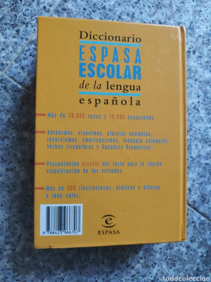 Diccionarios de segunda mano: Diccionario Espasa Escolar de la Lengua Española - Ilustrado a todo color - Foto 6 - 262789625