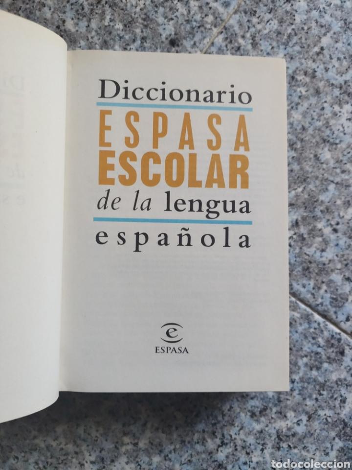 Diccionarios de segunda mano: Diccionario Espasa Escolar de la Lengua Española - Ilustrado a todo color - Foto 3 - 262789625