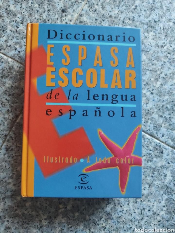 DICCIONARIO ESPASA ESCOLAR DE LA LENGUA ESPAÑOLA - ILUSTRADO A TODO COLOR (Libros de Segunda Mano - Diccionarios)