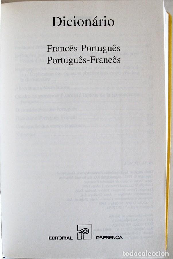 Diccionarios de segunda mano: 1998. DICIONARIO - DICCIONARIO FRANCES - PORTUGUES / PORTUGUES - FRANCES. ED. PRESENÇA - Foto 2 - 262812935