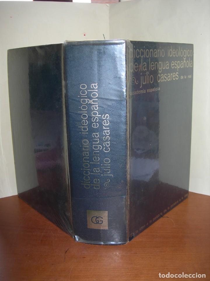 DICCIONARIO IDEOLÓGICO DE LA LENGUA ESPAÑOLA / JULIO CASARES DE LA REAL ACADEMIA ESPAÑOLA (Libros de Segunda Mano - Diccionarios)