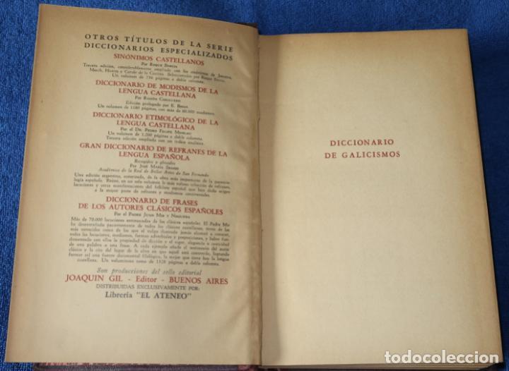 Diccionarios de segunda mano: Diccionario de Galicismos - Rafael María Baralt - Joaquín Gil Editor (1945) - Foto 4 - 263124200