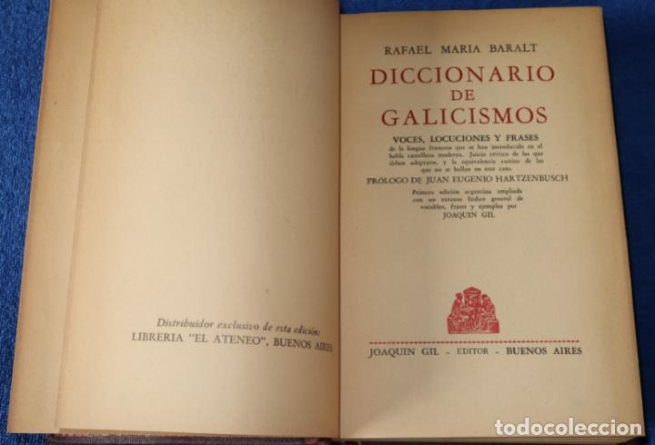 Diccionarios de segunda mano: Diccionario de Galicismos - Rafael María Baralt - Joaquín Gil Editor (1945) - Foto 5 - 263124200