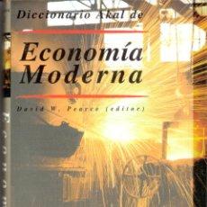 Diccionarios de segunda mano: DICCIONARIO DE ECONOMIA MODERNA - DAVID W. PEARCE. Lote 263287445