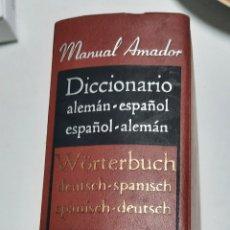 Diccionarios de segunda mano: DICCIONARIO ALEMÁN- ESPAÑOL. MANUAL AMADOR. Lote 263288885
