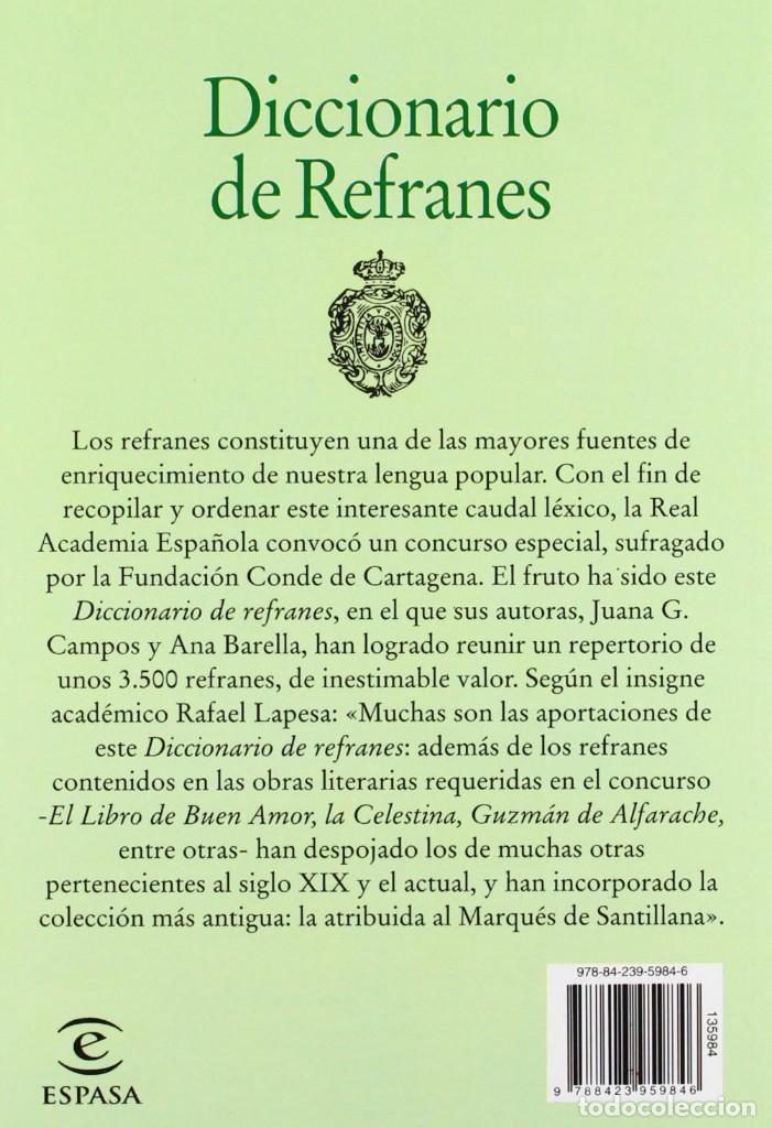 Diccionarios de segunda mano: Diccionario de refranes de La Real Academia Española - Foto 2 - 263687030