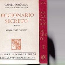 Diccionarios de segunda mano: CAMILO JOSÉ CELA - DICCIONARIO SECRETO / TOMO I - ALFAGUARA EDITORIAL 1972 / 4ª EDICION. Lote 263737910