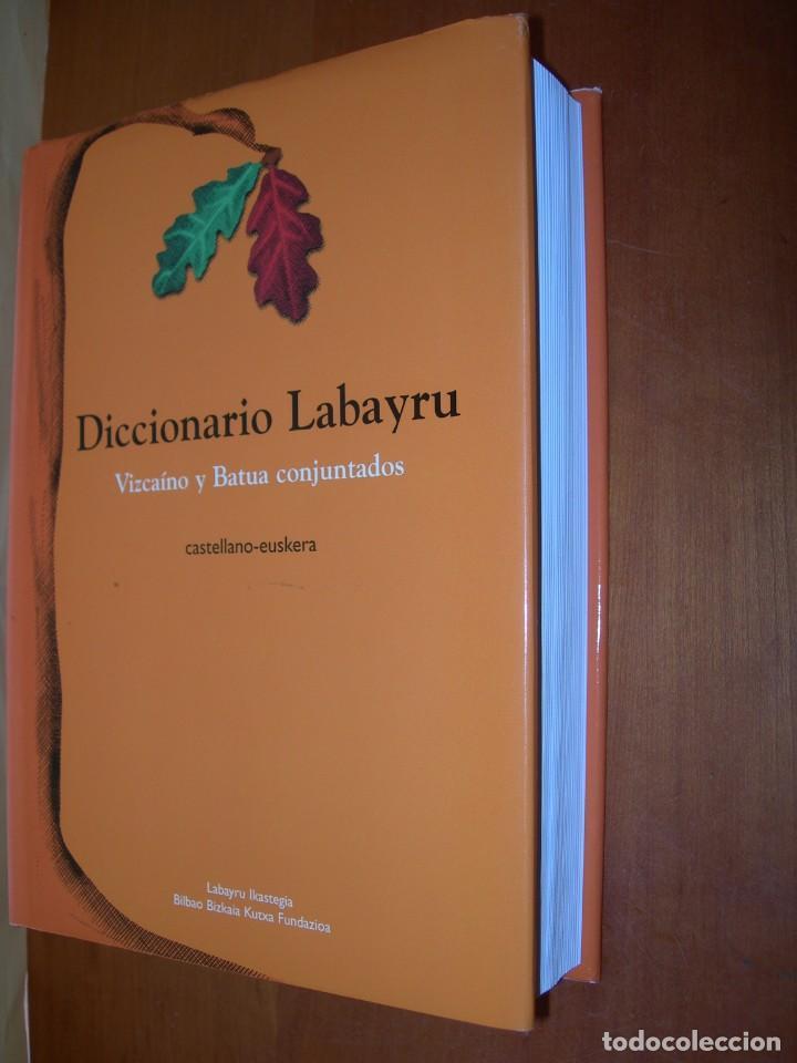 DICCIONARIO LABAYRU / VIZCAÍNO Y BATUA CONJUNTADOS / CASTALLANO- EUSKERA (Libros de Segunda Mano - Diccionarios)