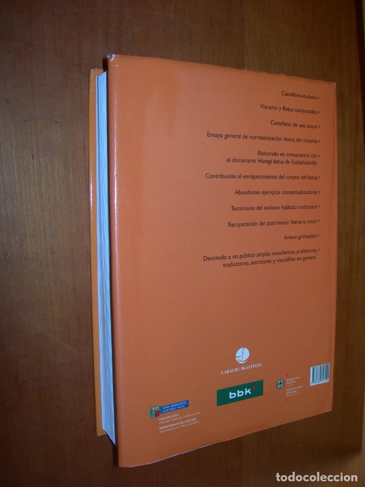 Diccionarios de segunda mano: DICCIONARIO LABAYRU / VIZCAÍNO Y BATUA CONJUNTADOS / CASTALLANO- EUSKERA - Foto 2 - 263806805