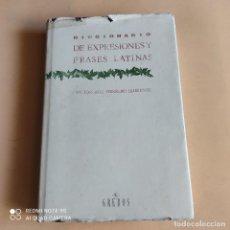 Libri di seconda mano: DICCIONARIO DE EXPRESIONES Y FRASES LATINAS. VICTOR-JOSE HERRERO LLORENTE. 1995.GREDOS. 530 PAGS.. Lote 266216933