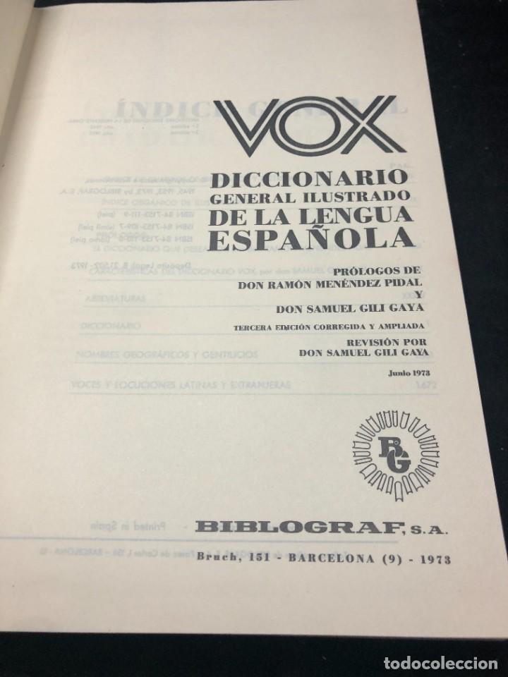 Diccionarios de segunda mano: Vox Diccionario general ilustrado de la lengua espanola. Ramon Menendez Pidal, Samuel Gili Gaya 1970 - Foto 3 - 266314633