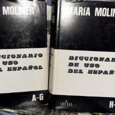 Libri di seconda mano: DICCIONARIO DEL USO DEL ESPAÑOL, MARIA MOLINER, GREDOS 1994. Lote 267569964