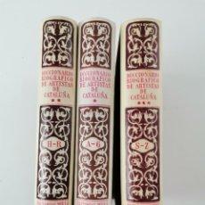 Diccionarios de segunda mano: L-1791. DICCIONARIO BIOGRAFICO DE LOS ARTISTAS DE CATALUÑA. J.F. RÀFOLS. 1951. 3 TOMOS.. Lote 268267044