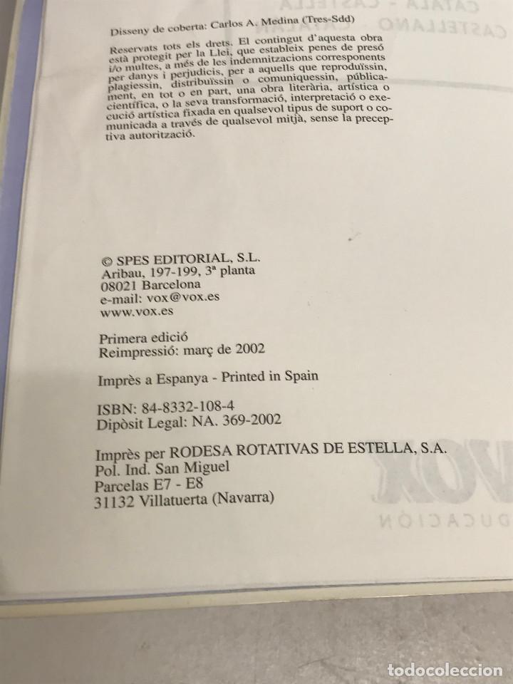 Diccionarios de segunda mano: DICCIONARI ESCOLAR CATALÀ-CASTELLÀ VOX EDUCACIÓ SPES EDITORIAL MARZO 2002 - Foto 4 - 269050303