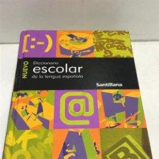 Diccionarios de segunda mano: DICCIONARIO ESCOLAR DE LA LENGUA ESPAÑOLA SANTILLANA 2001. Lote 269050748
