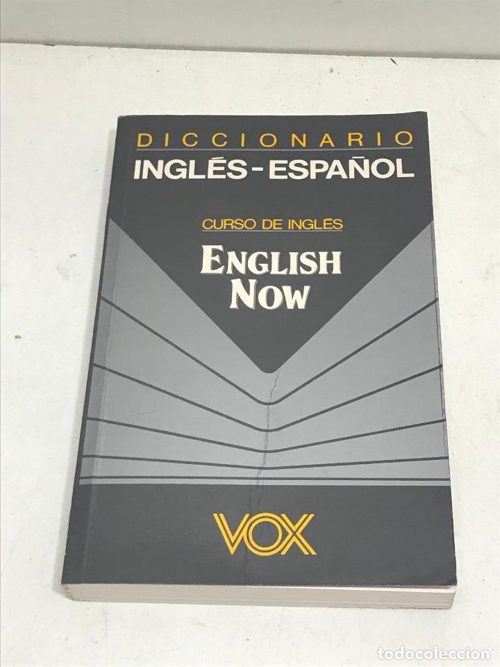DICCIONARIO VOX INGLÉS-ESPAÑOL CURSO DE INGLÉS. ENGLISH NOW BIBLOGRAF AÑO 1992 (Libros de Segunda Mano - Diccionarios)
