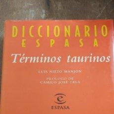 Diccionarios de segunda mano: DICCIONARIO ESPASA, TÉRMINOS TAURINOS, LUIS MANJÓN, PYMY 6. Lote 269850048