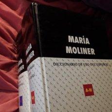 Diccionarios de segunda mano: DICCIONARIO DE USO DEL ESPAÑOL MARÍA MOLINER (2 TOMOS). GREDOS, 2001 Y 2002. Lote 270164608