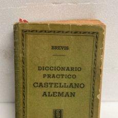 Diccionarios de segunda mano: DICCIONARIO PRACTICO CASTELLANO ALEMAN , BREVIS, EDITORIAL SOPENA. Lote 270578483