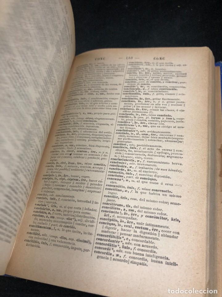 Diccionarios de segunda mano: DICCIONARIO MANUAL LATINO-ESPAÑOL.JIMENEZ LOMAS.1889, deteriorado - Foto 9 - 270867588