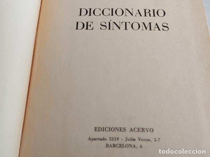 DICCIONARIO DE SÍNTOMAS / DRA. JOAN GÓMEZ / EDICIONES ACERVO-1981 / LIBRO DE OCASIÓN !! (Libros de Segunda Mano - Diccionarios)