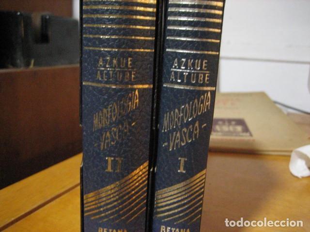 Diccionarios de segunda mano: GRAMATICA BASICA DIALECTAL DEL EUSKERA. MORFOLOGIA VASCA. tomos 1 y 2 / AZKUE ALTUBE - Foto 2 - 270871793