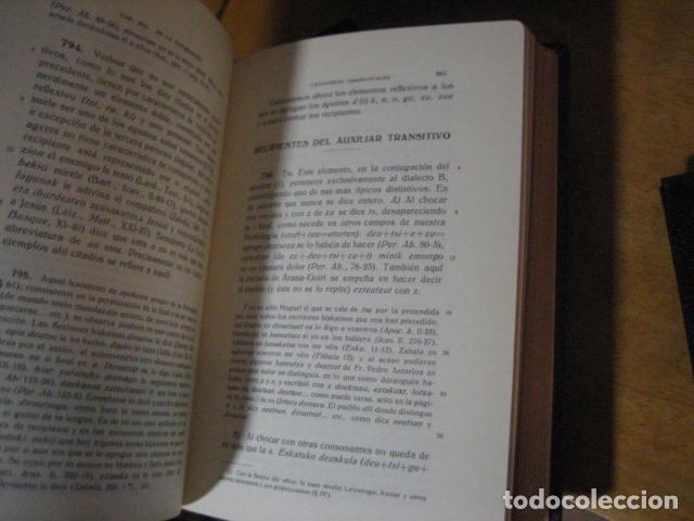 Diccionarios de segunda mano: GRAMATICA BASICA DIALECTAL DEL EUSKERA. MORFOLOGIA VASCA. tomos 1 y 2 / AZKUE ALTUBE - Foto 12 - 270871793
