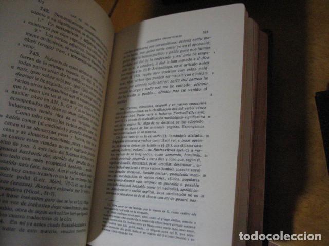 Diccionarios de segunda mano: GRAMATICA BASICA DIALECTAL DEL EUSKERA. MORFOLOGIA VASCA. tomos 1 y 2 / AZKUE ALTUBE - Foto 13 - 270871793