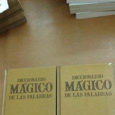 Diccionarios de segunda mano: DICCIONARIO MAGICO DE LAS PALABRAS. SINONIMOS ANTONIMOS, IDEAS AFINES, REFRANERO, 2 TOMOS MARIN. Lote 270943118