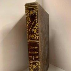 Diccionarios de segunda mano: DICCIONARIO FRANCES-ESPAÑOL, ESPAÑOL-FRANCES, ENCUADERNACION EN PIEL, AÑO 1857, 624PGS. Lote 273334768