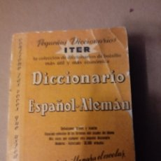 Diccionarios de segunda mano: DICCIONARIO ITER DE ESPAÑOL ALEMAN.EDICION BOLSILLO. Lote 273744108
