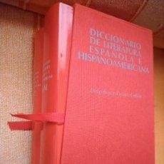 Libri di seconda mano: DICCIONARIO DE LITERATURA ESPAÑOLA E HISPANOAMERICANA. DOS TOMOS EN ESTUCHE. ALIANZA DICCIONARIOS.. Lote 275289653