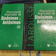 Diccionarios de segunda mano: DICCIONARIO AVANZADO DE SINÓNIMOS.Y ANTÓNIMOS DOS VOLÚMENES LAROUSSE. Lote 276023003
