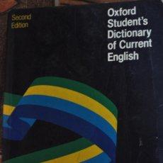 Diccionarios de segunda mano: OXFORD STUDENT'S DICTIONARY OF CORRENT ENGLISH BY CHRISTINA RUSE. Lote 276715958