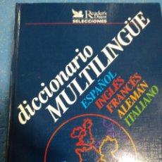 Diccionarios de segunda mano: DICCIONARIO MULTILINGUE. Lote 276719233