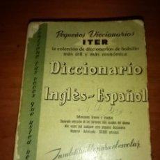 Diccionarios de segunda mano: PEQUEÑOS DICCIONARIOS ITER. INGLES ESPAÑOL.EST9B6. Lote 276784253