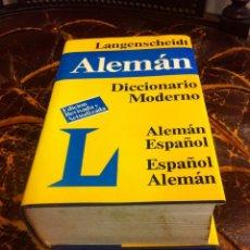 Diccionarios de segunda mano: DICCIONARIO MODERNO LANGENSCHEIDT. ALEMÁN-ESPAÑOL. ESPAÑOL-ALEMÁN. 1989. 6ª EDICIÓN. Lote 276797708