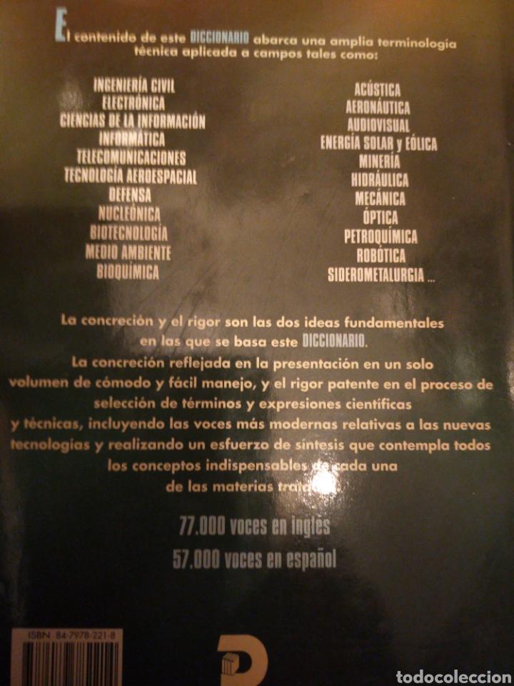 Diccionarios de segunda mano: DICCIONARIO TÉCNICO INGLÉS -ESPAÑOL F. BEIGBEDER ESTADO NORMAL BUENO - Foto 2 - 277187428