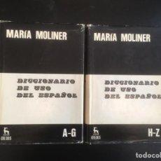 Diccionarios de segunda mano: DICCIONARIO DE USO DEL ESPAÑOL. 2 TOMOS. MARIA MOLINER.. Lote 277289088