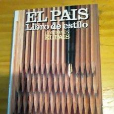 Diccionarios de segunda mano: EL PAIS.LIBRO DE ESTILO.EDICIONES EL PAIS, S.A.1990,524 PAG.. Lote 277442133