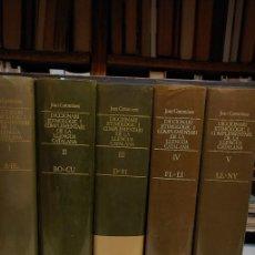 Diccionarios de segunda mano: DICCIONARI ETIMOLOGIC I COMPLEMENTARI DE LA LLENGUA CATALANA. JOAN COROMINES. 5 VOLUMS, PYMY TC. Lote 277575393