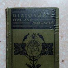 Diccionarios de segunda mano: DICCIONARIO ITALIANO ESPAÑOL. LUIGI BACCI 1928. DIZIONARIO ITALIANO SPAGNOLO. Lote 281852628