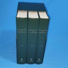 Diccionarios de segunda mano: DICCIONARIO DE AUTORIDADES - REAL ACADEMIA ESPAÑOLA EDICION FACSIMIL 3 TOMOS. COMPLETO. GREDOS 2002. Lote 284732688
